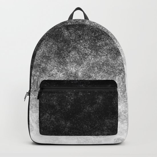Disappearing Fog - Black and White Gradient Backpack