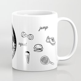 Balance perfecto, el gym y el ñam Coffee Mug