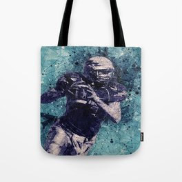 Football Player Tote Bag