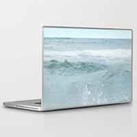 salt water Laptop & iPad Skins featuring Salt Water for the Soul by Bella Blue Photography