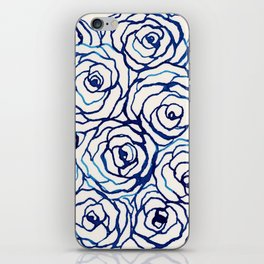 Blue Roses iPhone Skin