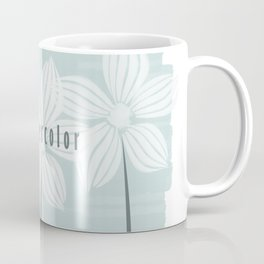 Watercolor Flowers in White and Mint Coffee Mug