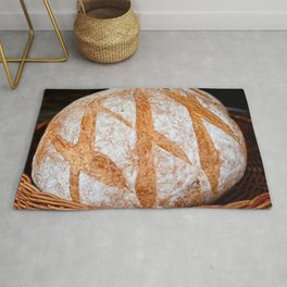 Hand Made Loaf Of Bread Rug
