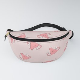 Crazy Happy Uterus in Pink, Large Fanny Pack
