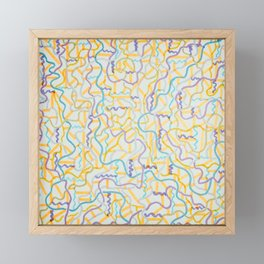 Muted Lines Framed Mini Art Print