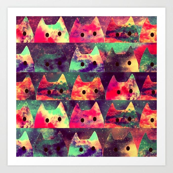 cats-131 Art Print