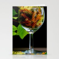 pasta Stationery Cards featuring Tricolor Pasta by Tanja Riedel
