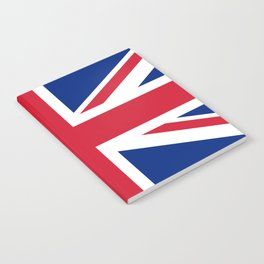 Union Jack, Authentic color and scale 1:2 Notebook