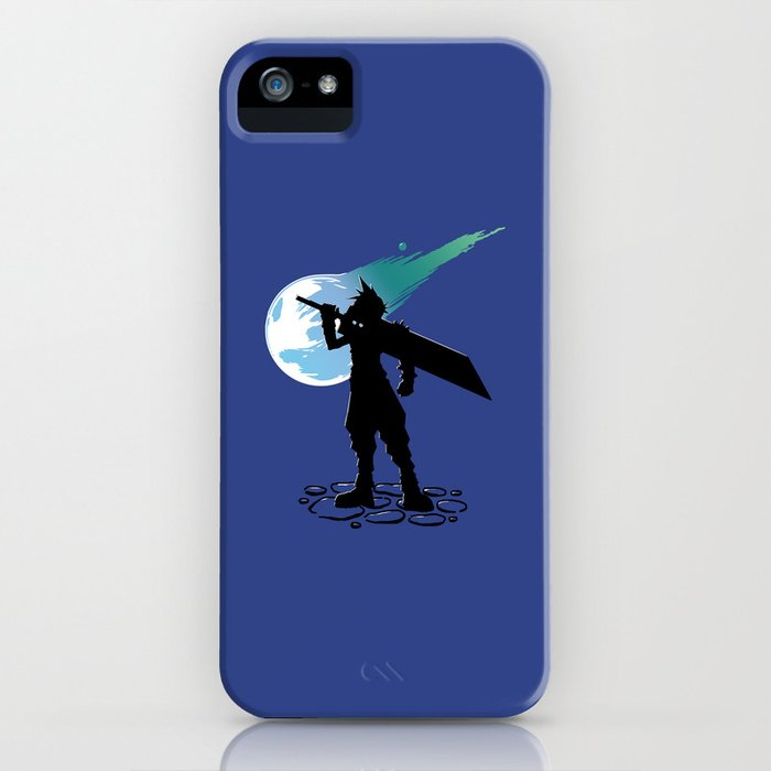 Cloud and the Meteor - Final Fantasy VII iPhone Case