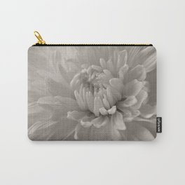 Monochrome chrysanthemum close-up Carry-All Pouch