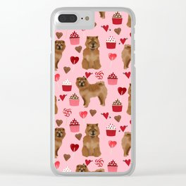 Chow Chow dog breed pure breed valentines day cupcakes love pet gifts must have doggo pupper lovers Clear iPhone Case