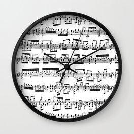 Sheet Music Wall Clock