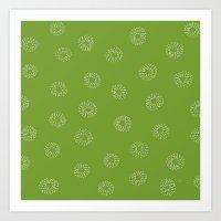 JOY Green Art Print