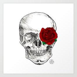 Rose Skull Art Print