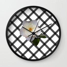 FLOWER GRID Wall Clock
