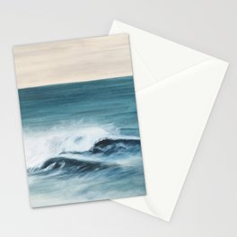 Surfing big waves Stationery Cards