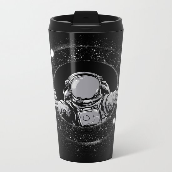 Black Hole Metal Travel Mug