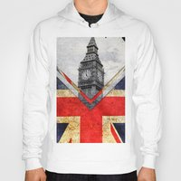 uk Hoodies featuring Flags - UK by Ale Ibanez