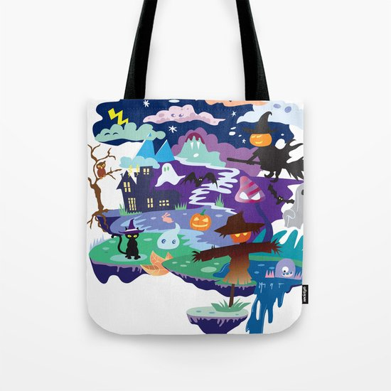 Halloween Abstract Tote Bag