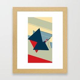 Stripes and Triangles USA! Framed Art Print