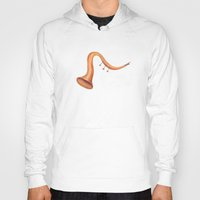 trumpet Hoodies featuring Trumpet by Josep Mestres