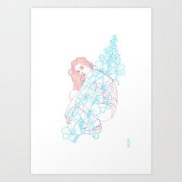 Because a flower is a flower  Art Print