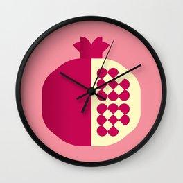 Fruit: Pomegranate Wall Clock