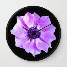 Purple Poppy Wall Clock