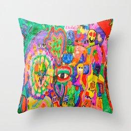Pop Art World by Elisavet Throw Pillow