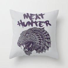 Tiger Leopard Head Illustration Throw Pillow