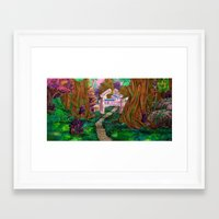 warcraft Framed Art Prints featuring Welcome in Darnassus by Studinano by Shou'