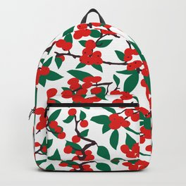 Holiday Winterberries + Branches Backpack