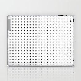 Rhythm of black dots on white background Laptop & iPad Skin