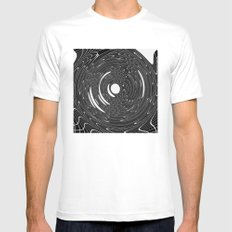 CHAOTIC WHIRL MEDIUM White Mens Fitted Tee