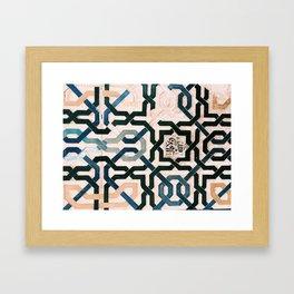 Alhambra Tiles. Framed Art Print