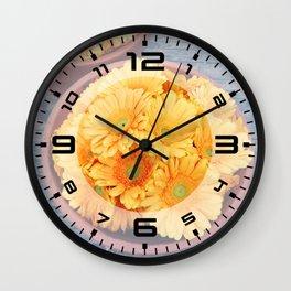 Orange germini Wall Clock