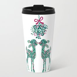fawns and mistletoe Travel Mug