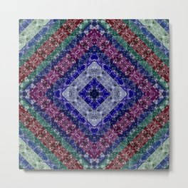 Colorful abstract pattern, patchwork, multicolored, plaid, multicolored plaid, bright, ethnic Metal Print