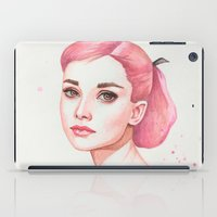 hepburn iPad Cases featuring Audrey Hepburn by Black Fury