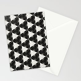 Triad Pattern Black-White Stationery Cards