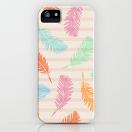 Dancing summer feathers iPhone Case