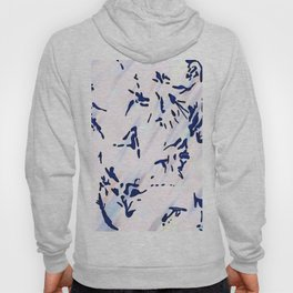 Blue Splatter Painting Pattern Hoody