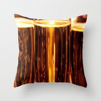 champagne Throw Pillows featuring Champagne  by Al Robinson