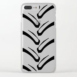 Tractor Tread Pattern Clear iPhone Case