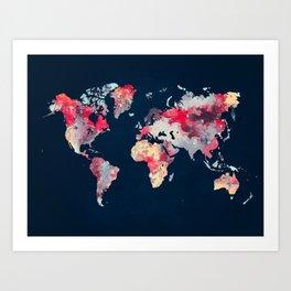 world map 69 Art Print