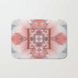 Feather Sacred Geometry Magic Boho Mandala Bath Mat
