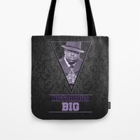 notorious big Tote Bags featuring *Notorious BiG* by Gold Blood