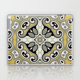 Edwardian Geo Yellow Grey Laptop & iPad Skin