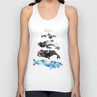 whales Tank Tops featuring Whales by Amee Cherie Piek