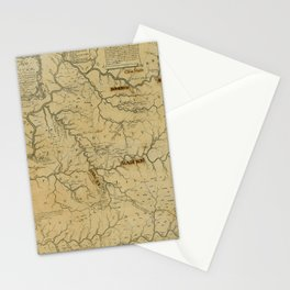 Map Of Kentucky 1784 Stationery Cards